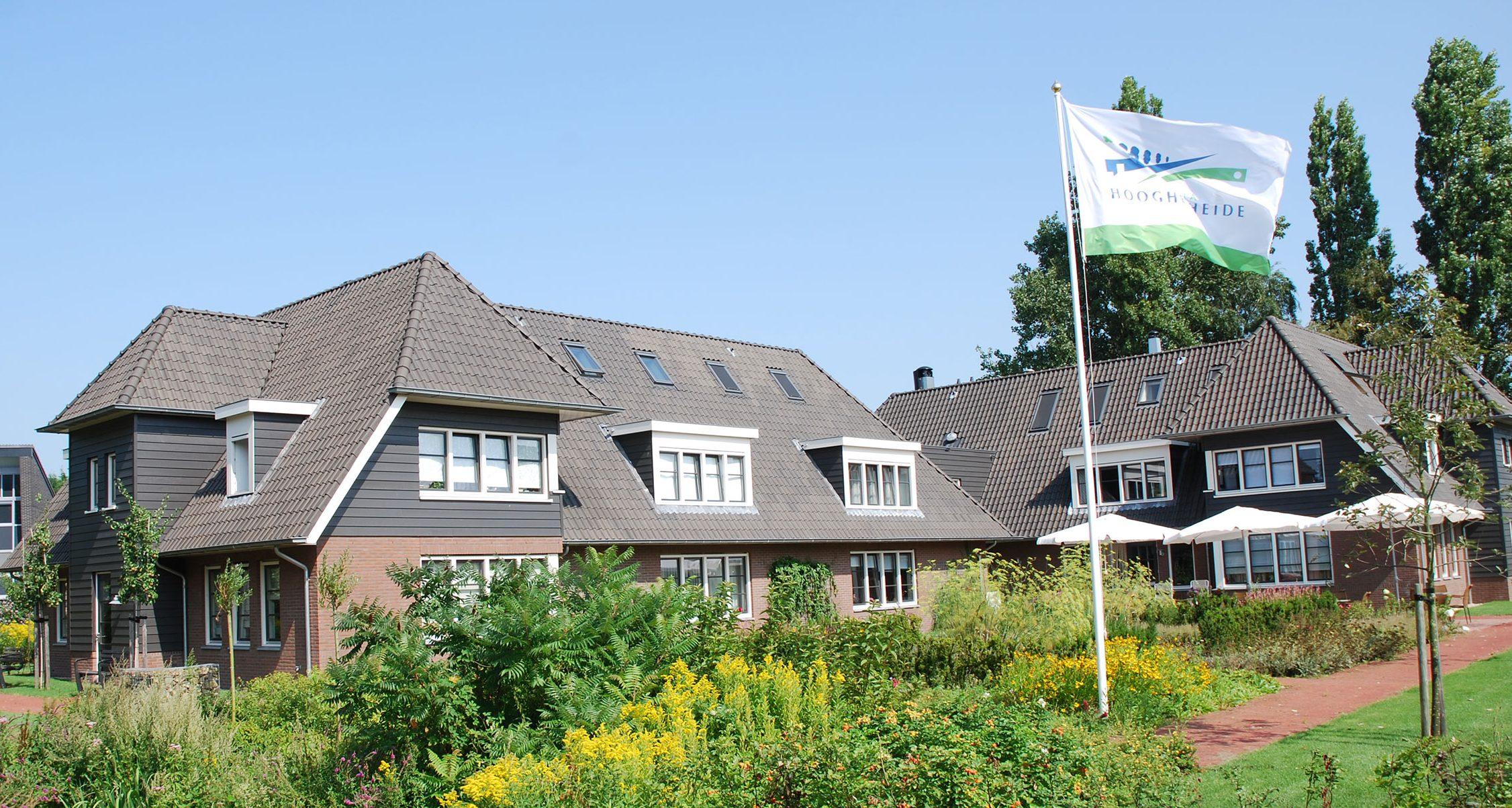 Het gebouw van Villa Hooghe Heide
